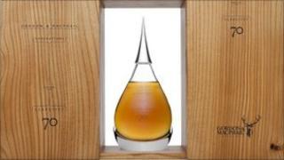 Generations Glenlivet 70 Years Old whisky bottle (photo courtesy of Bonhams)