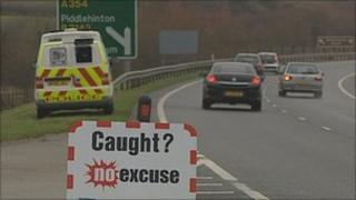 Traffic police van monitors motorists (generic)