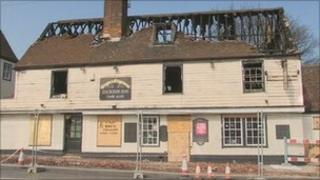 Crispin and Crispianus pub after the fire