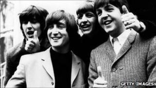 The Beatles: George Harrison, John Lennon, Ringo Starr and Paul McCartney