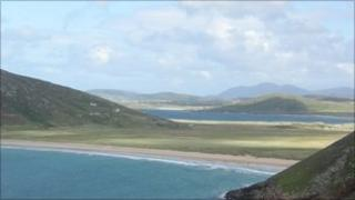 View of Atlantic Drive on the coast of Donegal