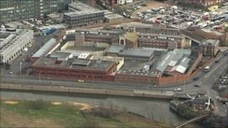 Aerial view of Gloucester Prison