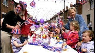 A street party to celebrate the Queen's Golden Jubilee in Belfast