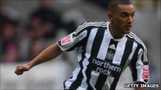 Newcastle player Danny Simpson