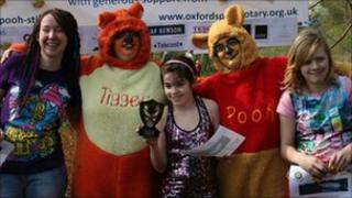 Saffron Sollitt at Pooh sticks event