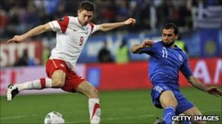 Poland plays Greece
