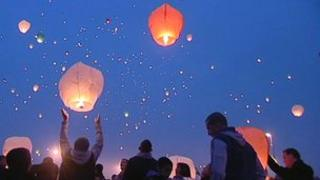 Lantern release Kirkby