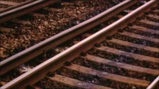 Close up of rails