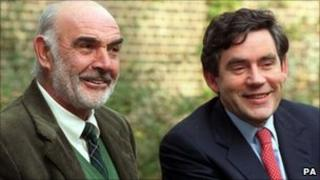 Sean Connery and Gordon Brown