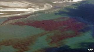 Oil slick in the gulf of Mexico
