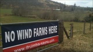 Wind farm projects are a big issue in rural Scotland