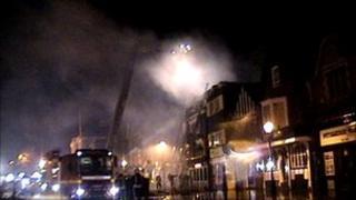 Fire at Market Inn Salisbury
