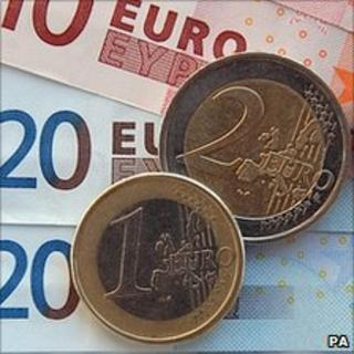 Euro coins - file pic
