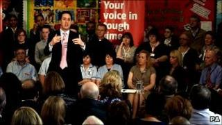 Ed Miliband at the Labour campaign launch
