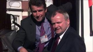 Edward Stobart with Bernard Jenkin MP for Harwich and North Essex, in 1999.