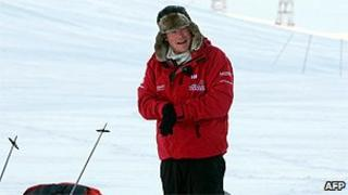 Prince Harry training with the Walking with the Wounded team in the Arctic