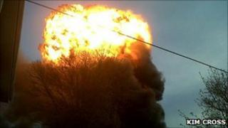 Gas explosion at Welburn Transport