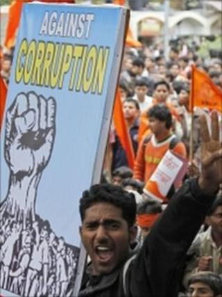 Protesters in India