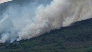 Gorse fire in Carnlough
