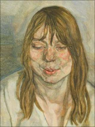 Woman Smiling by Lucian Freud