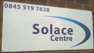 Solace Centre sign