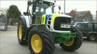 Police tractor