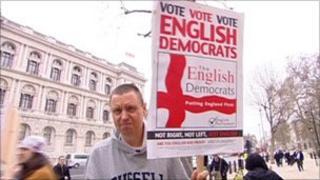 English Democrat protest