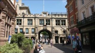 Lincoln city centre