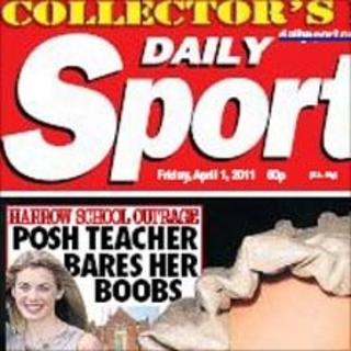 Daily Sport Collector's edition front page