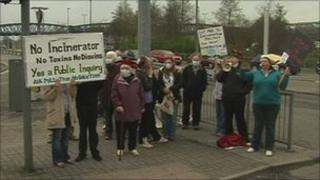 Plymouth incinerator protest