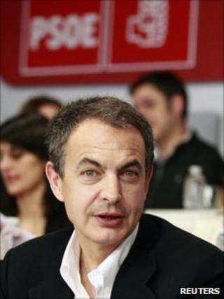 Spanish Prime Minister Jose Luis Rodriguez Zapatero (2 April 2011)
