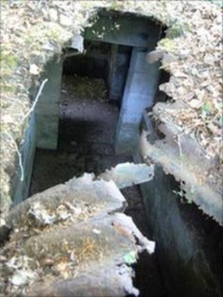 Auxiliary Units bunker found in woods near Caerphilly