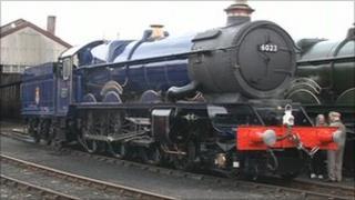 The restored loco