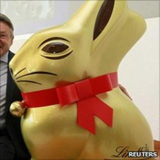 Lindt model of its trademark Easter bunny