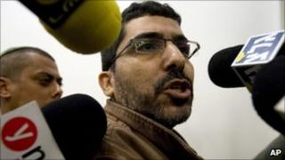 Dirar Abu Sisi appearing in an Israeli court 31 march 2011