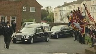 Pte Daniel Prior's funeral