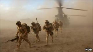 Black Watch soldiers in Afghanistan. Pic: MoD