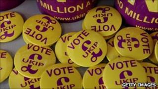 Vote UKIP badges