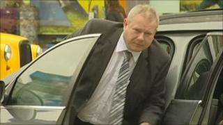 Robert Casey arriving at court
