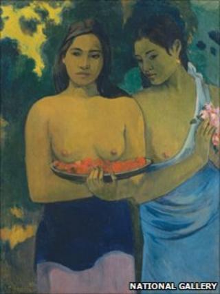 Two Tahitian Women, by Paul Gauguin