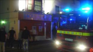Scene of Lace nightclub fire: Photo by Daniel Brown