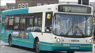 Bus in Wakefield