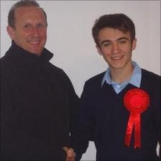 Eddie and Tom King the Stourport-on-Severn father and son Conservative and Labour town council candidates