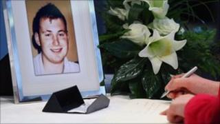 Ronan Kerr condolence book