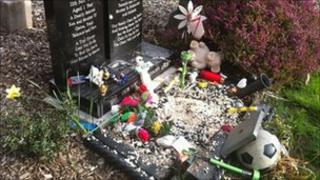 The vandalised graves