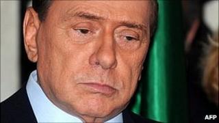Italian Prime Minister Silvio Berlusconi. 4 April 2011