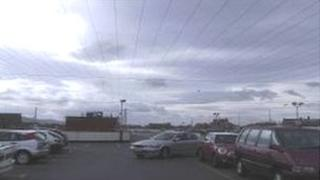 The White Rose Centre car park, with seagull-deterring wires (picture from Rentokil)
