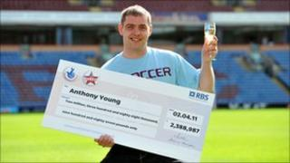 Anthony Young, from Padiham, who won more than £2m on the lottery