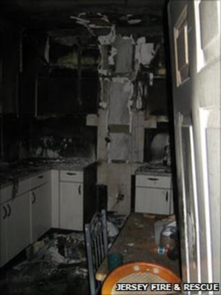 Damage from kitchen fire at Grasett Park estate