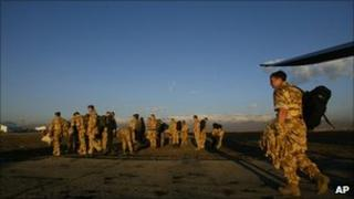 British troops in Kabul (file photo)